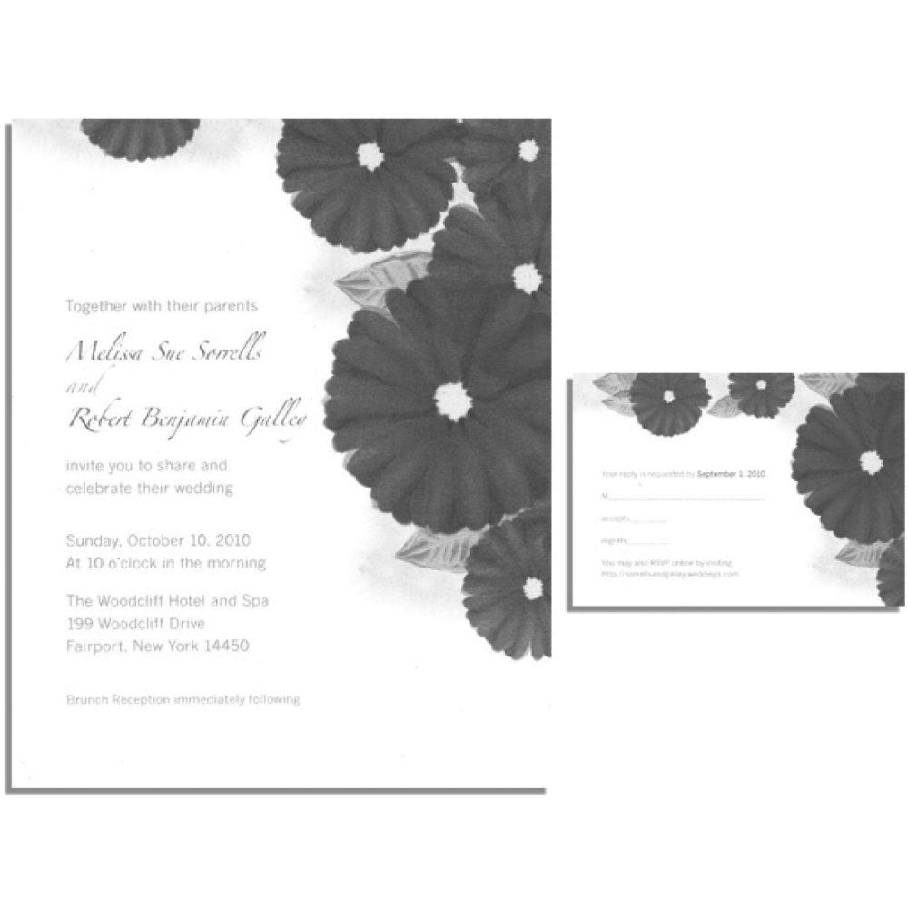 Gerbera Daisy Wedding Invitation