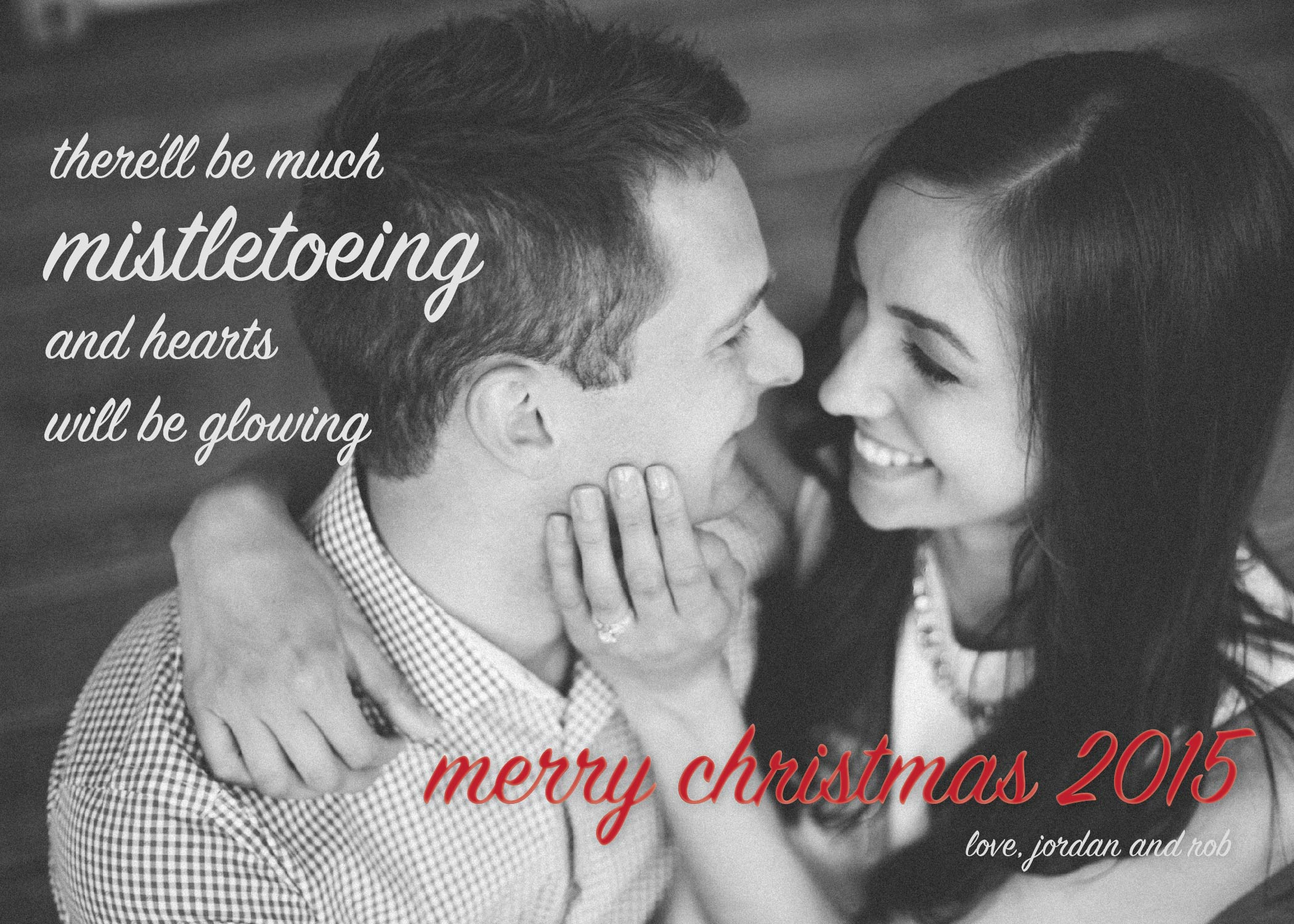 Mistletoe Christmas Card Design