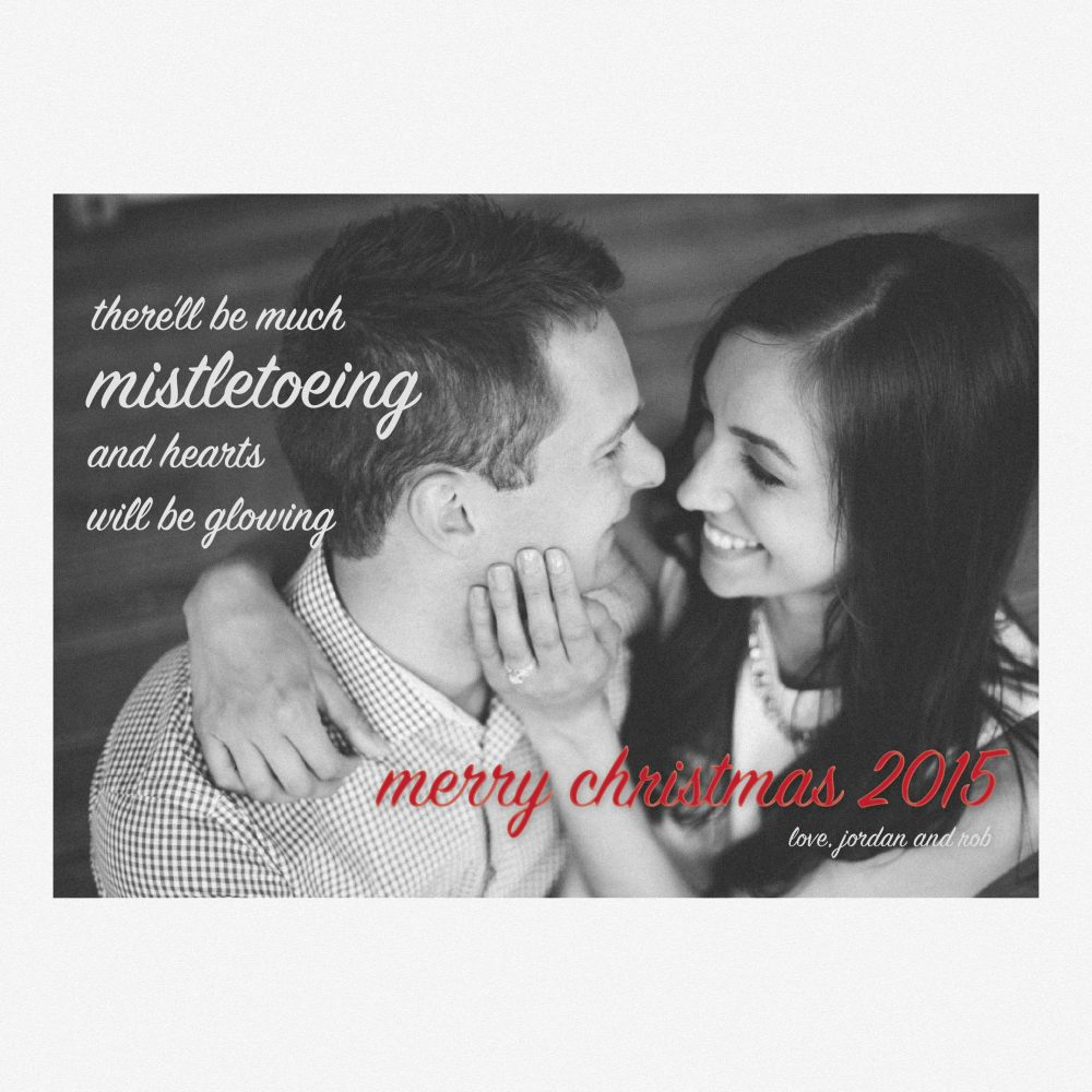 Mistletoe Christmas Card – Graphic Design