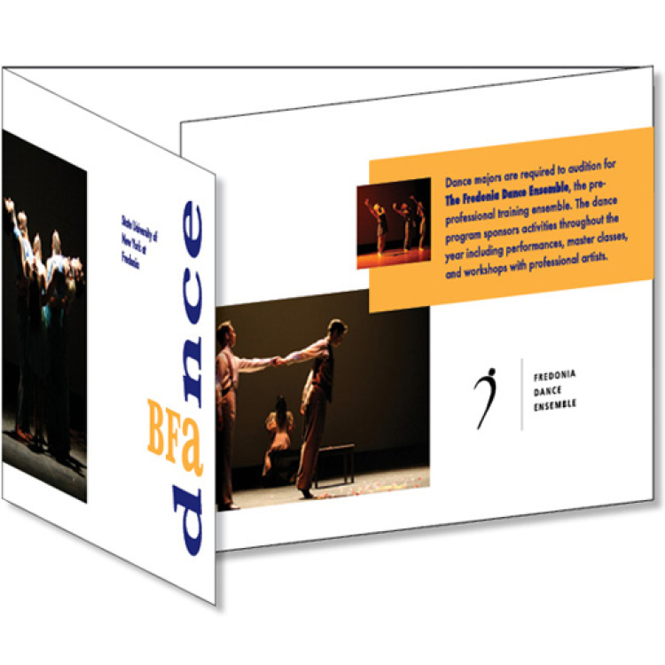 SUNY Fredonia BFA Dance Program Brochure – Graphic Design