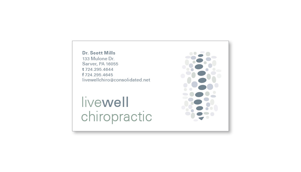 Livewell chiropractic business card