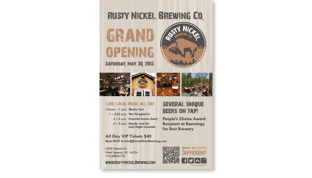 rusty nickel brewing co. poster