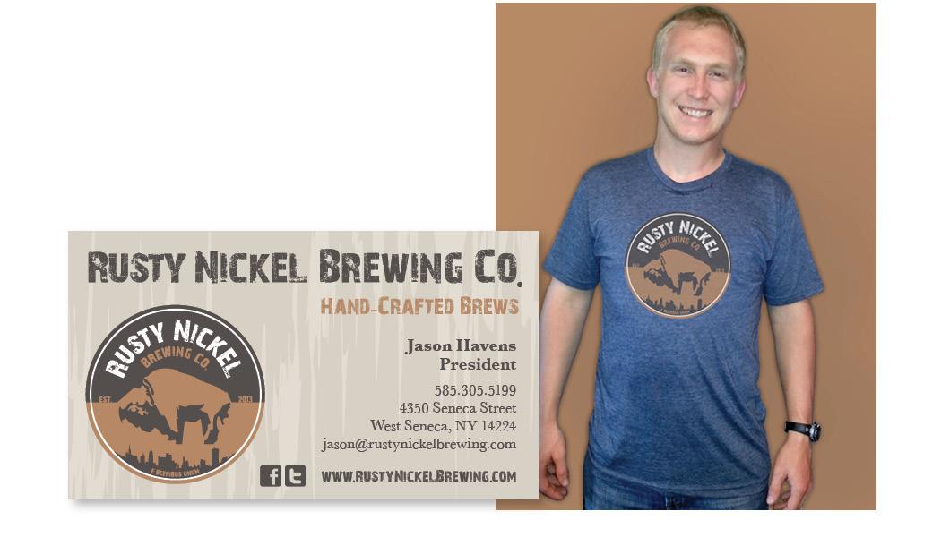 rusty nickel brewing co. business card