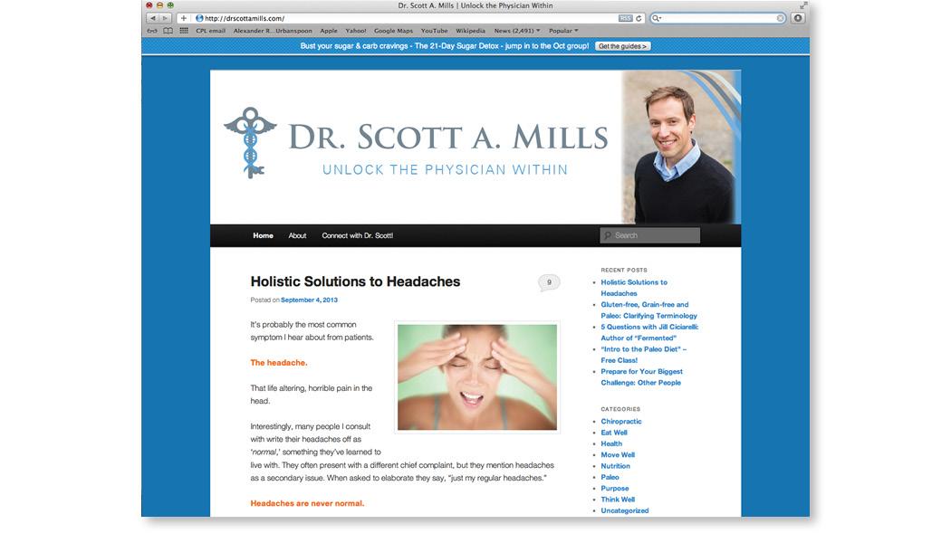 dr. scott a. mills website header