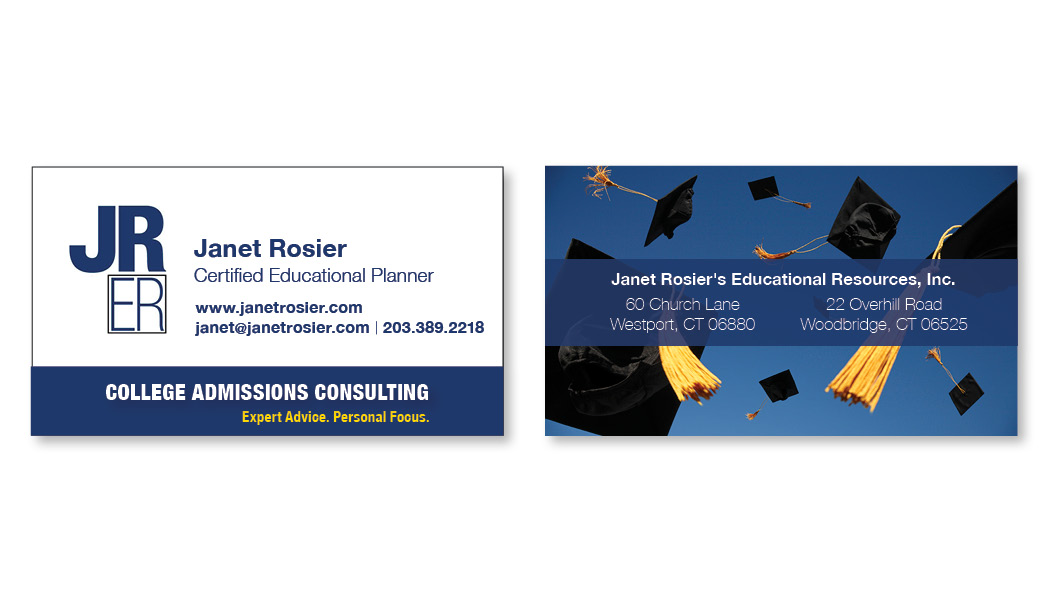 janet rosier business card