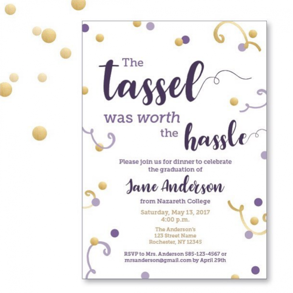 Purple and Gold Invitation – Graphic Design