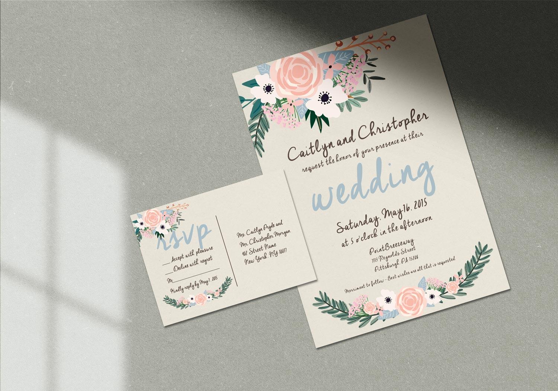 rustic flowers wedding invitation jordannerissa