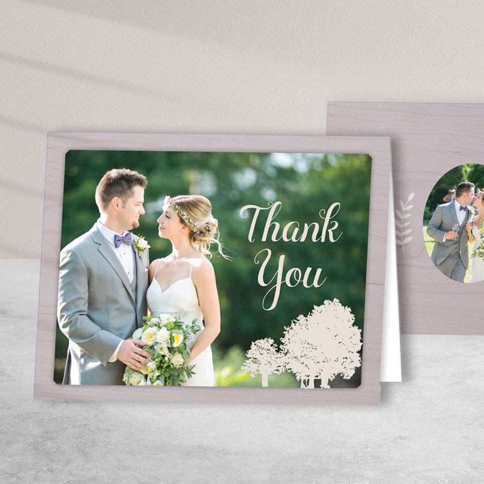 Rustic Purple Wedding Thank You – Graphic Design