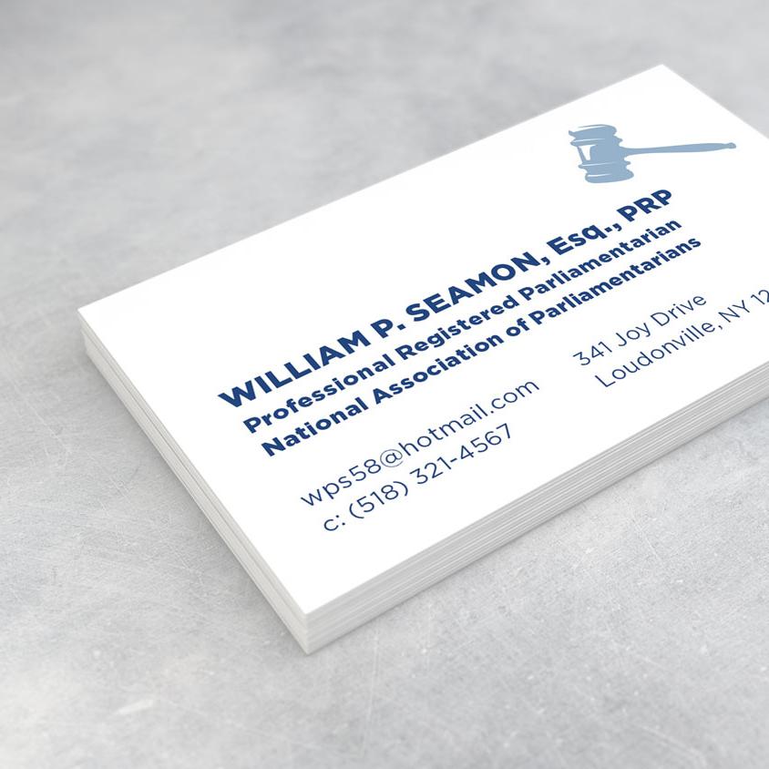 William Seamon Parliamentarian Business Card
