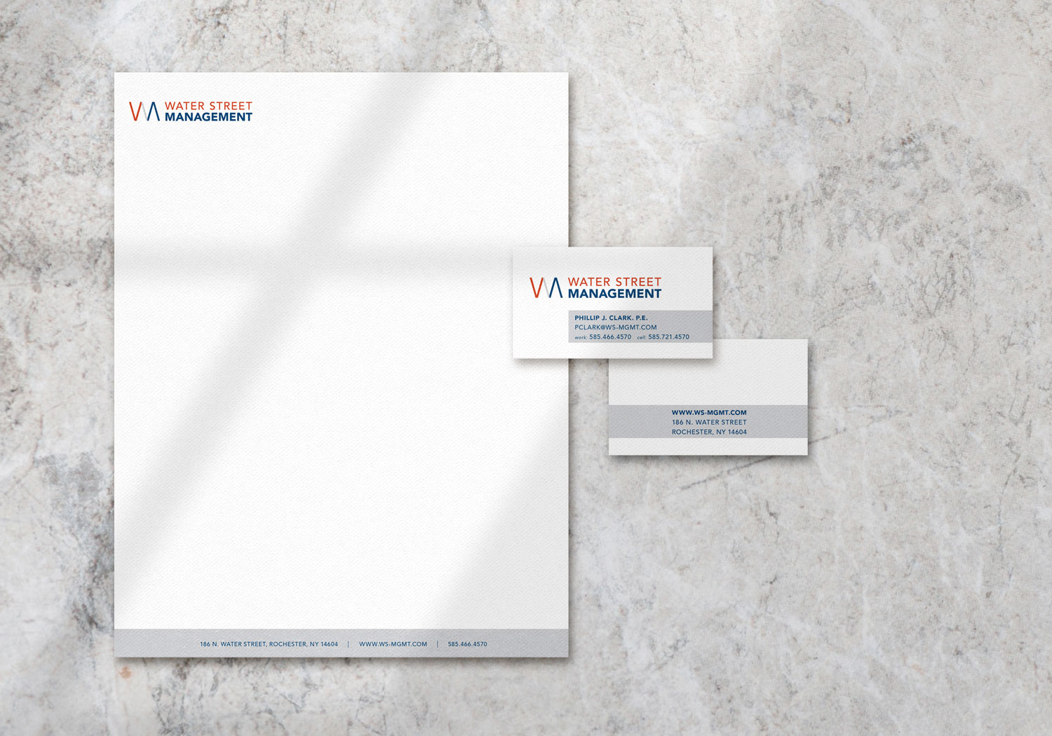 water street management stationery