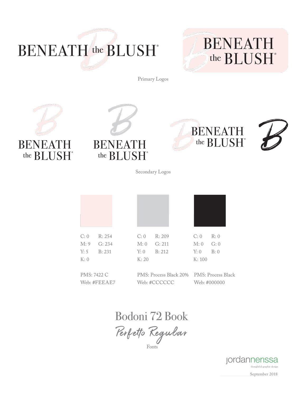 beneath the blush brand guidelines