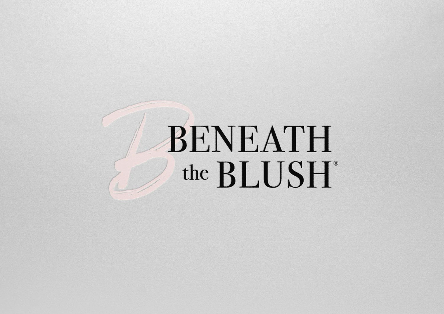 Beneath the Blush secondary logo jordannerissa