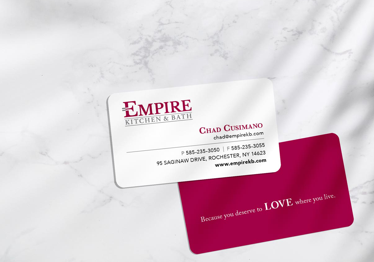 empire kitchen bath business card design