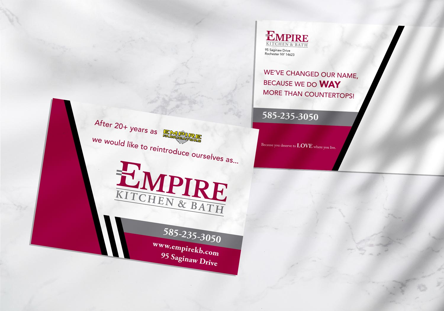 empire postcard design