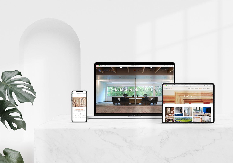 hamilton stern construction website design