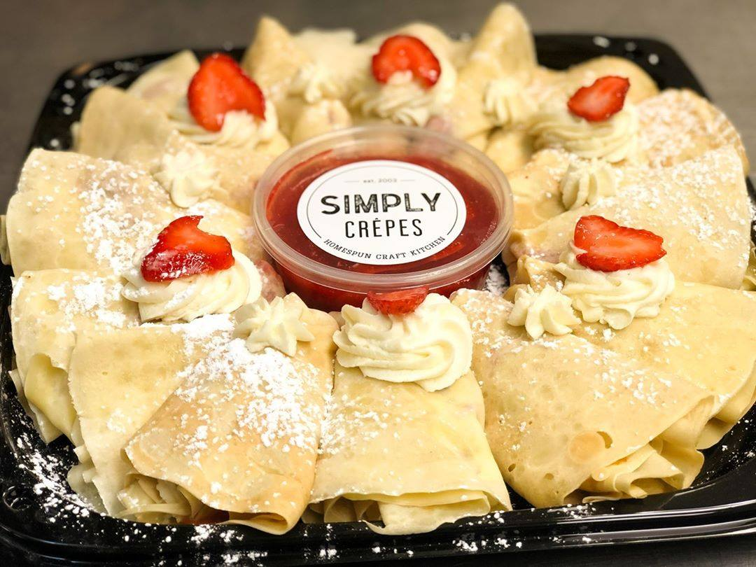 simply crepes food