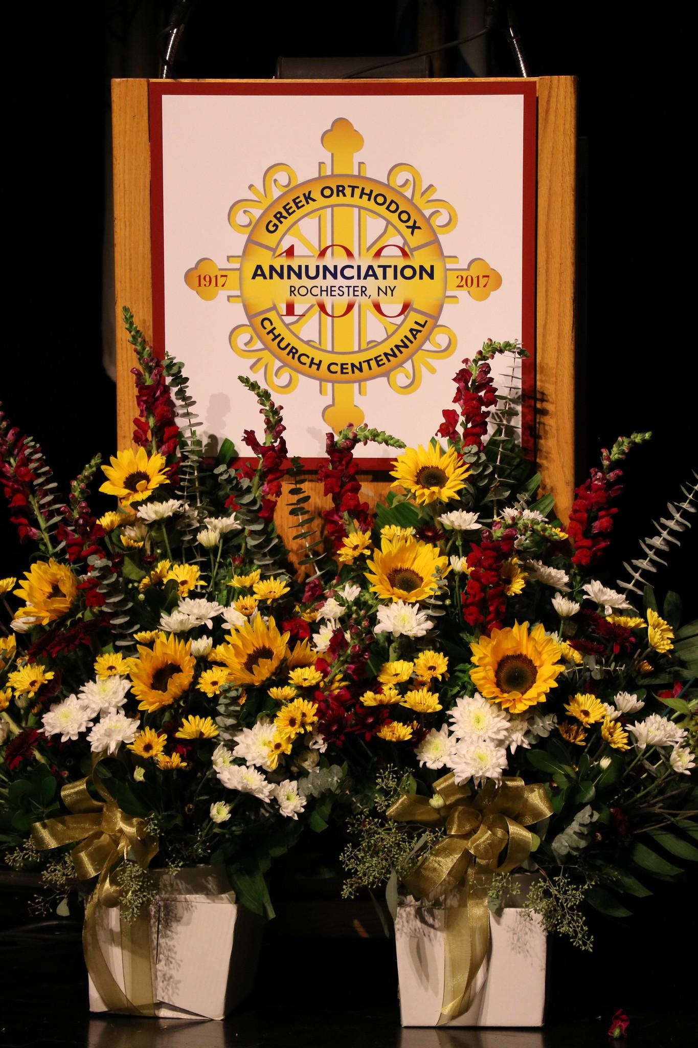 Annunciation Greek Orthodox Church Centennial Logo