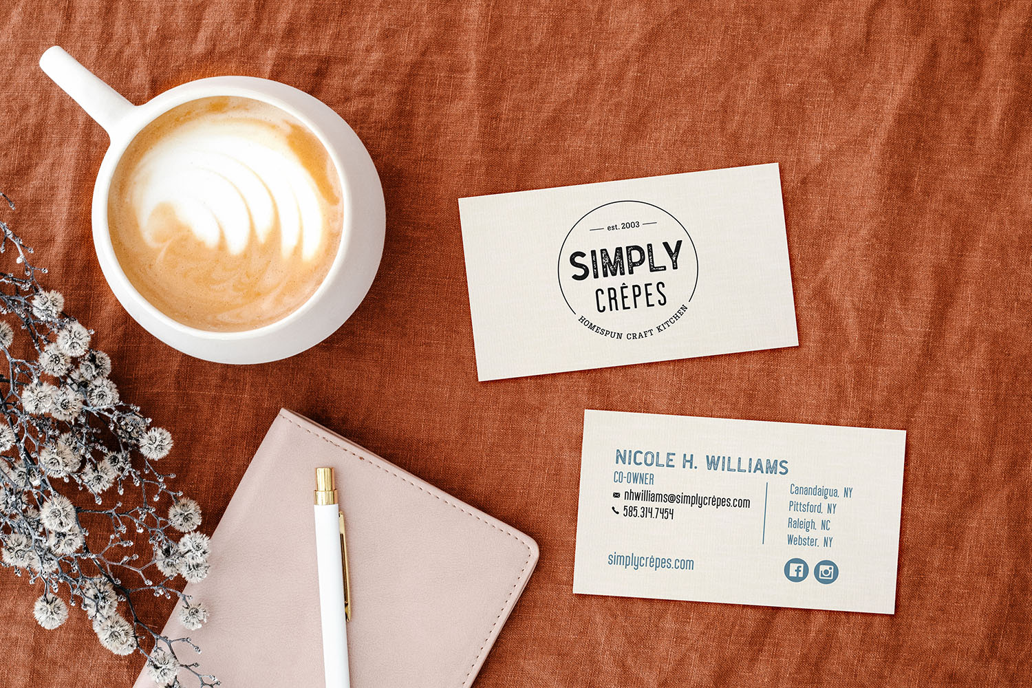 jordannerissa simply crepes business card