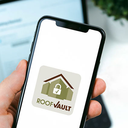 Upstate Roofing and Painting – Roof Vault Logo – Graphic Design