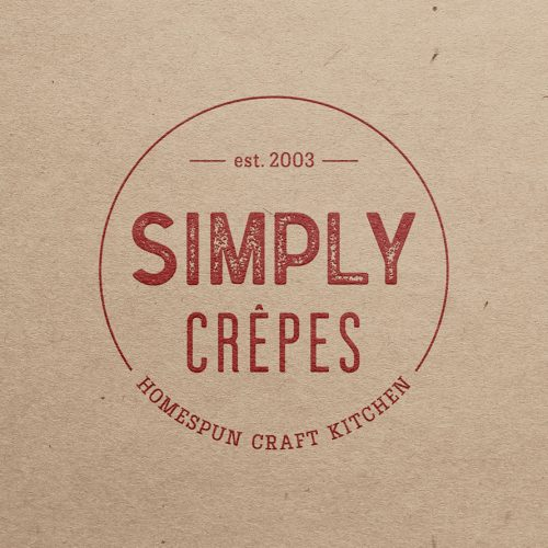 simply crepes logo and rebrand